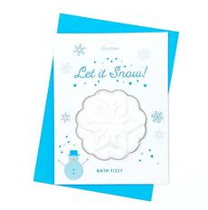 Let it Snow Bath Bomb Card