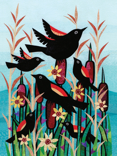 Blackbirds and Cattails