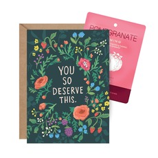 You So Deserve This - Face Mask Card