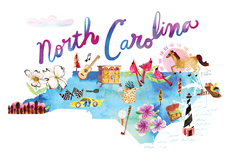 Watercolor USA: North Carolina