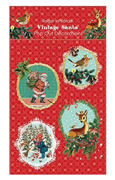 Pop Out Vintage Santa Ornaments
