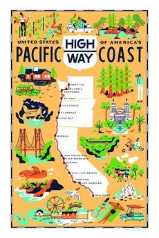 Pacific Coast Highway Towel