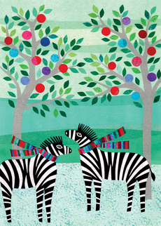 Cozy Zebras