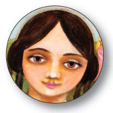 Louisa May Alcott Button