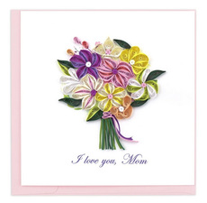 I Love You Mom Bouquet - Quilled Paper