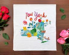 Watercolor USA: New York Towel