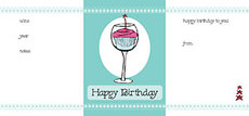 Birthday Cupcake Wine Wish