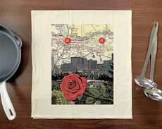 Rose City/ Mt. Hood Towel