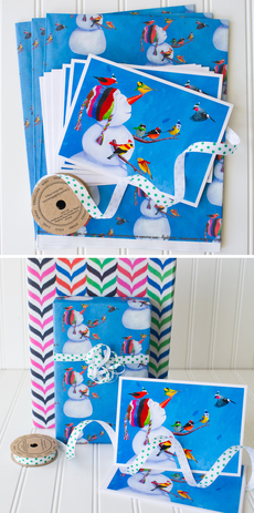 Birdies & Snowman Complete Wrap Kit