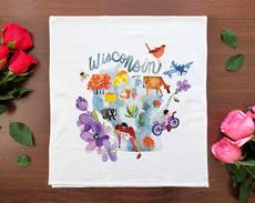 Watercolor USA: Wisconsin Towel