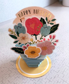 Flower Pot Birthday Popup Card