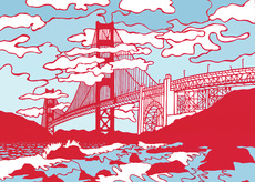 Golden Gate in Red