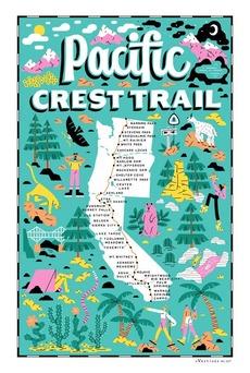 Pacific Crest Trail Tea Towel