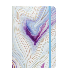 Blue Agate Small Hardcover Journal