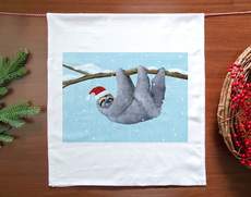 Holiday Sloth Towel