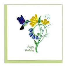 Hummingbird Birthday Quilling Card
