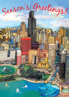 Chicago Holiday Cityscape