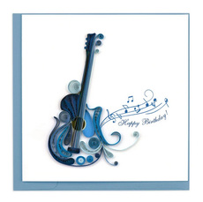 Guitar Birthday Quilling Card