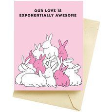 Rabbits Love Valentine's Card