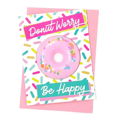 Bath Bomb -Donut Worry Card