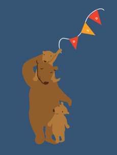 Papa Bear & Cubs
