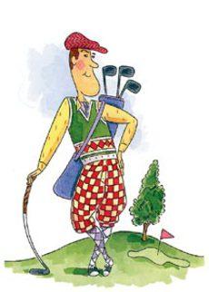 Golfing Dad
