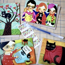 Cozy Cats Card Set