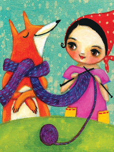 Knitting Fox