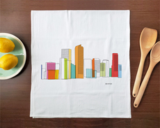 Denver Skyline Towel
