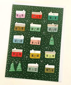 Little Houses Advent Calendar Card