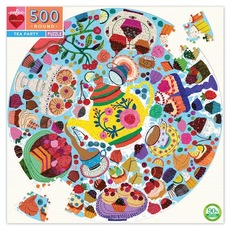 Tea Party Round Puzzle - 500pc