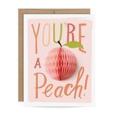 Peach Pop Up Card