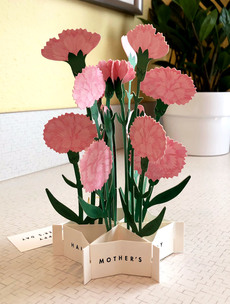 Carnation Mother's Day Popup Card