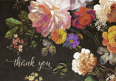 Midnight Floral Boxed Thank You Notes