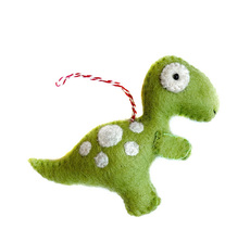 T-Rex Dinosaur Felted Ornament