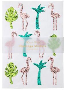 Glitter Flamingo Sticker Sheets