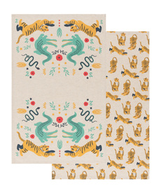 Fierce Felines Tea Towel Set