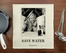 Save Water, Drink Prosecco Towel