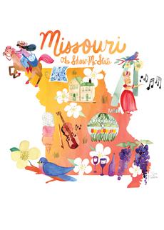 Watercolor USA: Missouri