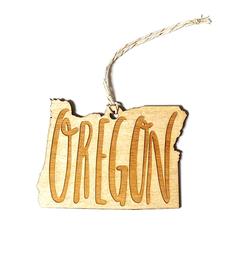Oregon Wooden Ornament