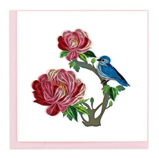 Flowers & Bluebird Quilling Card