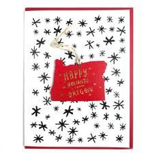 Holidays in Oregon Ornament Card