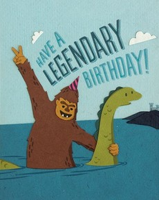 Legendary Birthday Collage Card
