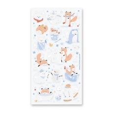 Frolicking Winter Fox Stickers