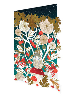 Owl Floral Lasercut Boxed Cards