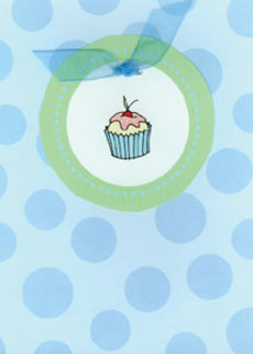 Cupcake Blue Dots