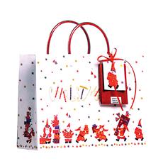 Happy Santas Medium Christmas Bag