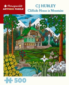 Cliffside House In Mountains Puzzle - 500pc