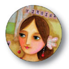 Virginia Woolf Button