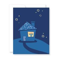 House with Menorah Hanukkah